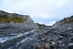 Pinatubo艰苦跋涉 库存图片