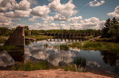 Pinawa dam provincial heritage park. Located on the winnipeg river, pinawa dam was manitoba's first hydro-electric generating station Stock Photography