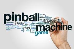 Pinball machine word cloud concept Royalty Free Stock Photos