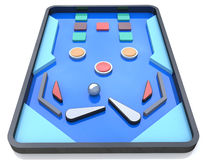 Pinball Playfield, Pinball game, Pinball table Royalty Free Stock Photo