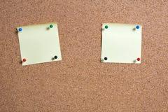Pinboard с примечаниями на ем. Стоковая Фотография RF