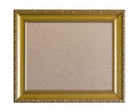 Pinboard ткани в богато украшенной золотой рамке Стоковая Фотография