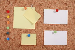 Pinboard. A pinboard with thumtacks on it Royalty Free Stock Photography