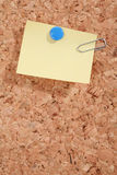 Pinboard. A pinboard with thumtacks on it Stock Photo