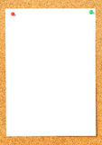Pinboard. Brown pinboard with pinned memo Stock Image