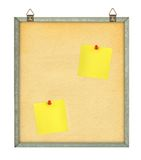 Pinboard with adhesive notes. Isolated on white background Stock Images