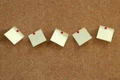 Pinboard notatki Obraz Stock