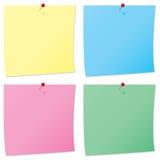 Pinboard notes Royalty Free Stock Photos