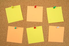 Pinboard notes Stock Photos