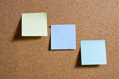 Pinboard with notes on it. Stock Images