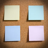 Pinboard with notes on it. Pinboard with notes, close up Royalty Free Stock Photo