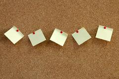 Pinboard notes. Close up of corkboard background texture Stock Image
