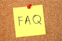 Pinboard questions Royalty Free Stock Photo