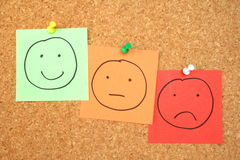 Pinboard smileys Royalty Free Stock Image