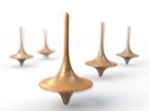 Pinbovenkanten, rotatiebovenkanten, draaimolennen royalty-vrije illustratie