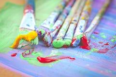 Pincéis coloridos Imagem de Stock
