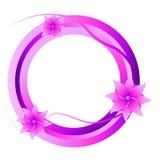 Pinc kwiaty, rama royalty ilustracja