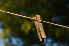 Pince à linge en bois Photo stock