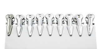 Pince à linge en métal Image stock