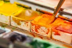 Boîte de peintures Image libre de droits