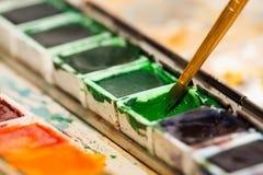 Boîte de peintures Images stock