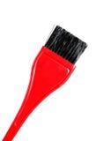 Pinceau rouge Photographie stock libre de droits