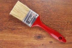 pinceau sur le bois photo stock
