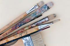 Pinceaux artistiques Photo libre de droits