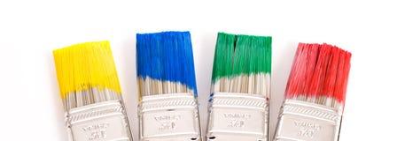Pinceaux colorés Photos libres de droits