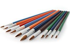 Pinceaux colorés Image stock