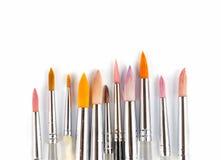Pinceaux colorés d'aquarelle Images stock