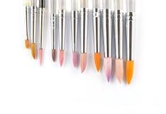 Pinceaux colorés d'aquarelle Photographie stock libre de droits