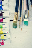 Pinceaux d'artiste Images stock