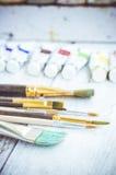 Pinceaux d'artiste Photo stock