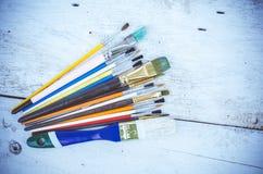 Pinceaux d'artiste Images libres de droits