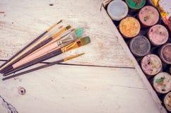 Pinceaux d'artiste Photos libres de droits