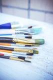 Pinceaux d'artiste Photographie stock libre de droits