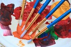 Pinceaux d'artiste Image stock