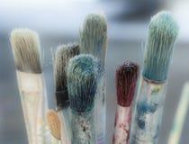 Pinceaux d'artistes Photo stock