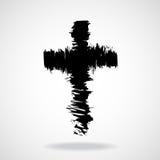 Pinceaux par croix, symbole chrétien Photographie stock libre de droits