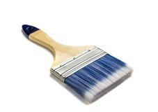 Pincel bonito com o punho de madeira isolado no branco foto de stock