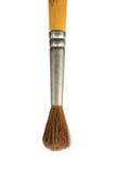 Pincel, da cerda natural do cabelo da escova de pintura do esquilo close up macro usado velho isolado, vertical Foto de Stock