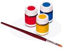 Pincel e pintura Foto de Stock Royalty Free