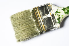 Pincel usado isolado no fundo branco Imagem de Stock