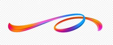 Pincelada de acrílico viva ilustración del vector
