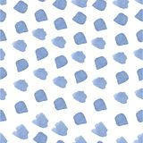 Pincelada dibujada mano azul de la acuarela inconsútil ilustración del vector
