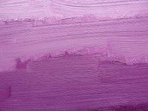 Pinceladas coloridas en petróleo en lona Fondo abstracto púrpura de la textura Foto de archivo libre de regalías