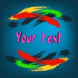 Pinceladas coloridas en un fondo azul libre illustration
