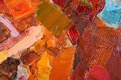 Pinceladas de la pintura al óleo en lona stock de ilustración