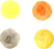 Pinceladas del círculo de la acuarela Imagen de archivo libre de regalías